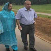 Nawaz Sharif Walk with Wife