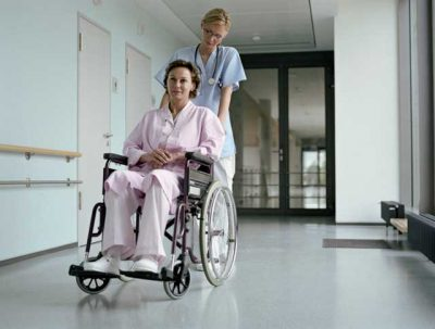 Patient on Wheelchair