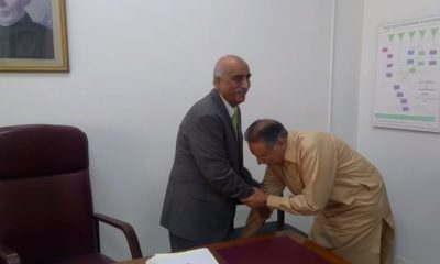 Pervaiz Rashid and Khurshid Shah