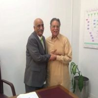 Pervez Rashid and Khurshid Shah