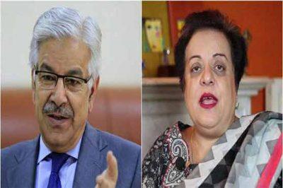 Shireen Mazari and Khawaja Asif