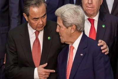 Wang Yi    and  John Kerry