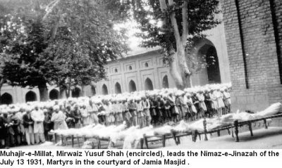 "13 July 1931"" Kashmiri People"