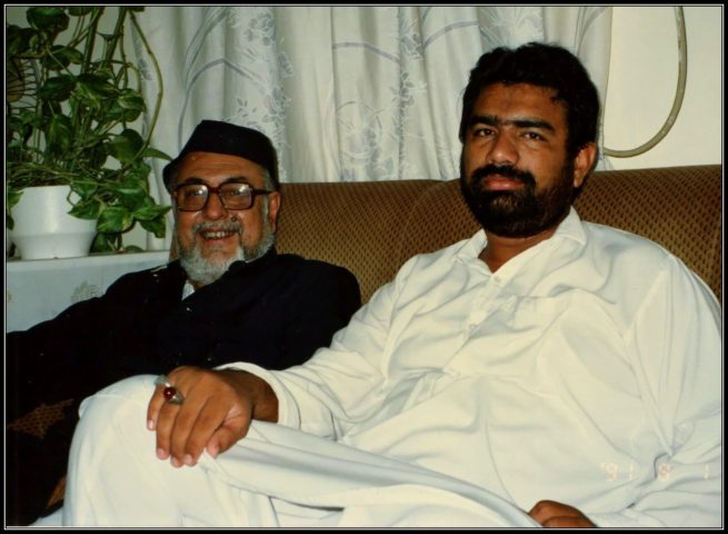 With Khateeb e Akbar Meerza Athar 1st of August 1991