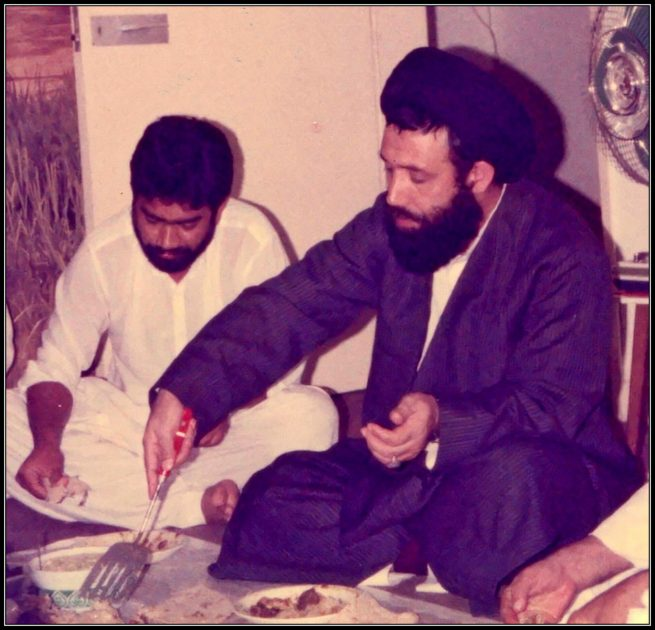 With Maulana Fazil H. Moosavi from United States of America 15th of  September 1986