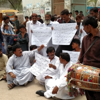 Badin Artist Protest