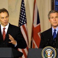 Blair and George Bush