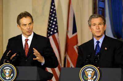 Blair and George Bush