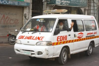 Edhi in Ambulance