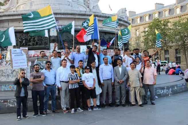 France Kashmiris Protest