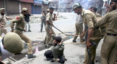 Indian Forces Brutally Beating The Kashmiris