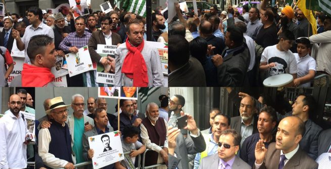 Indian High Commission in London Kashmiries Protests