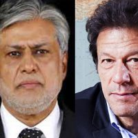 Ishaq Dar and Imran Khan