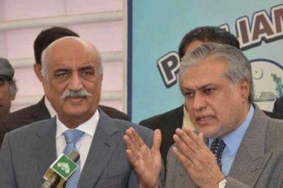 Ishaq Dar and Khurshid Shah