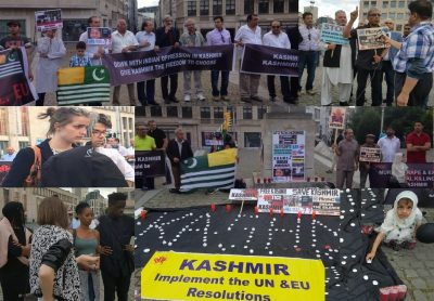 Kashmir Council EU-Candles Light Vigil