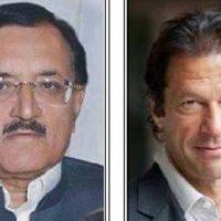 Major Tahir Sadiq and Imran Khan