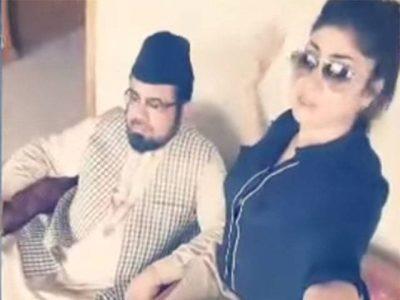 Mufti Abdul Qavi with Qandeel Baloch