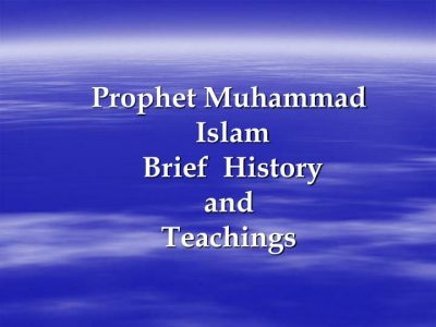 Muhammad PBUH Teachings