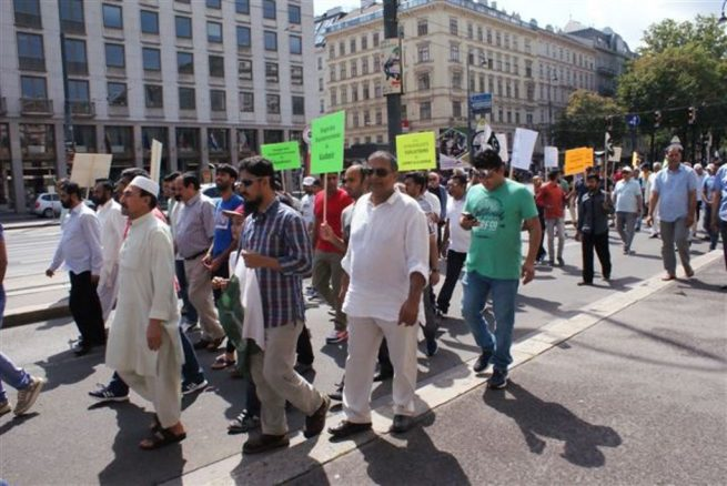 Pakistani community Vienna Kashmir Solidarity Rally