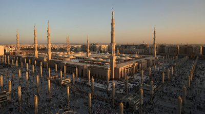 A general view of the Prophet Mohammed Mosque in the Saudi holy city of Medina. © Mahmud Hams / AFP