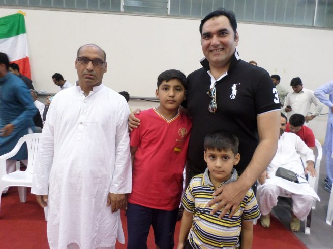 Raja Shahzaad with Sons