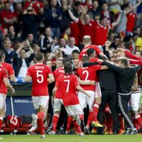 Welsh Players Celebrate