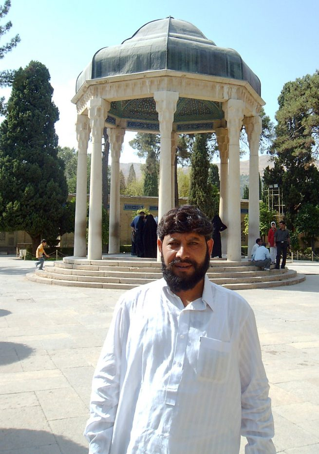 At the tomb of Hafez e Shirazi