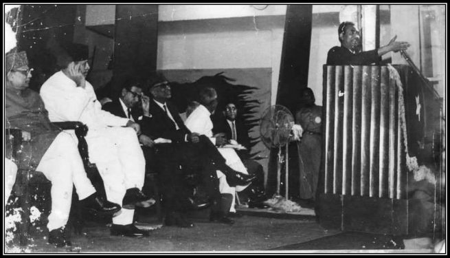 President-Ayyub-Khan-enjoying-Chivalrous-Poetry-of-Musheer-Kazmi-in-Dhaka-East-Pakistan-1966