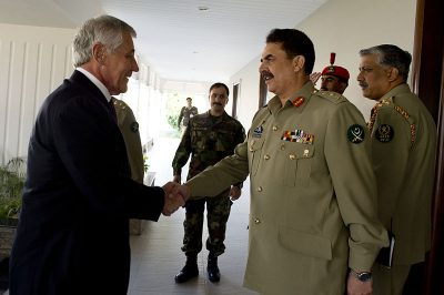Chuck Hagel and Raheel Sharif