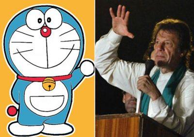 Doraemon and Imran Khan
