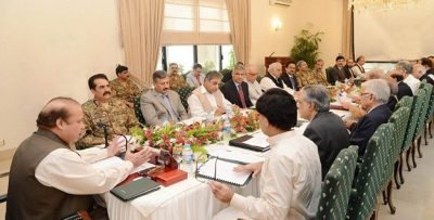 Nawaz Sharif Chaired meeting