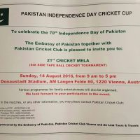 Pakistan Independence Day Cricket Cup