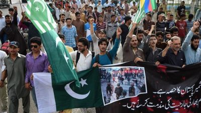 Pakistanis Protest Kashmir killings