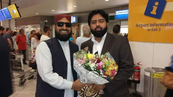 Pir Syed Hasnat Ahmed Greece Arrival Reception
