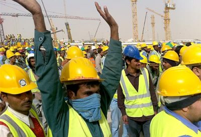 Saudi Workers Protest