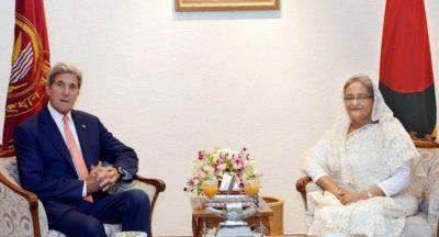 Shaikh Hasina Wajid and John Kerry