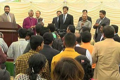 Sindh Chief Minister Church Visit