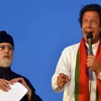 Tahir ul-Qadri and Imran Khan