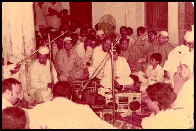 President Habib Bank Limited Safdar Abbas Zaidi and Zawwar Hussain Syed at Qawwali Mehfil