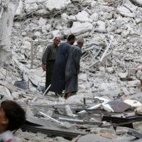 Aleppo Bombed