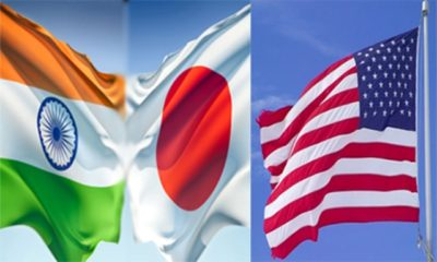 America, Japan and India