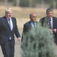 Boris Johnson visits Syrian refugee camp