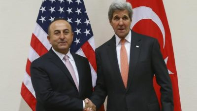 Cavusoglu and John Kerry