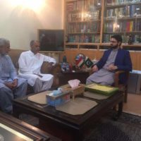 Chaudhry Mohammad Azam and Dr Hassan Mohi ud-Din Meeting