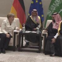 Mohammad bin Salman and Angela Merkel Met
