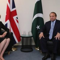 Nawaz Sharif and Theresa May Met