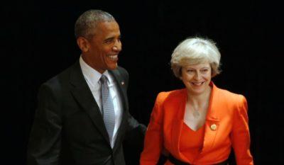 Obama and Theresa May