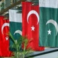 Pakistan and Turkey Flags