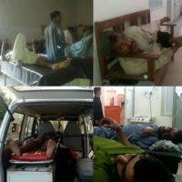 Sehwan Road Hadse Me Zakhmi Hone wale afrad Hospital Muntqil