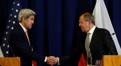 Sergey Lavrov and Kerry